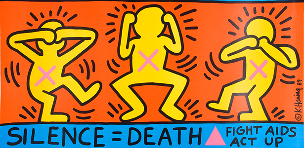 Keith Haring, Ignorance = Fear 1989