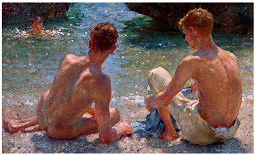 The Critics, 1927 by Henry Scott Tuke