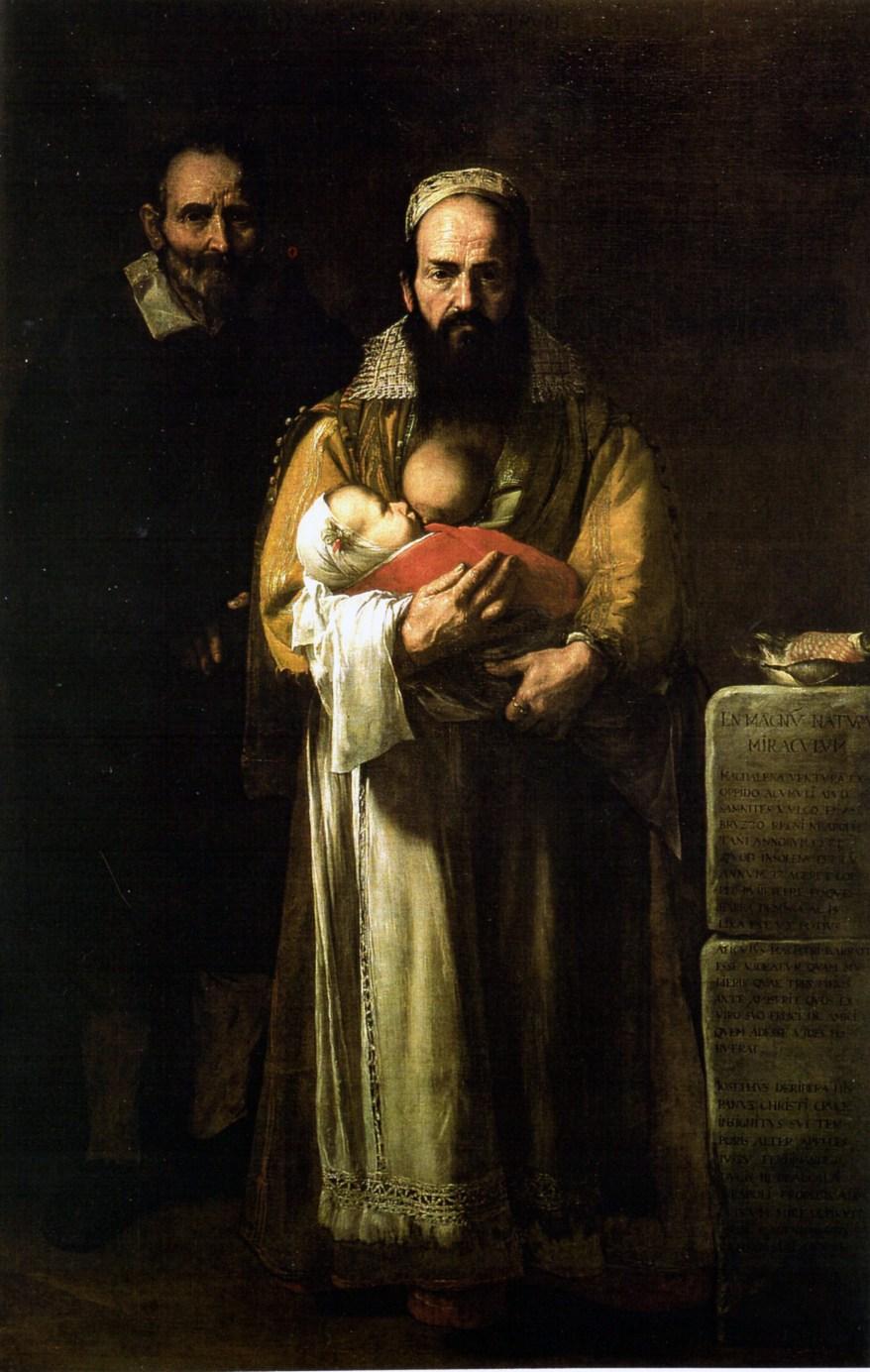 José de Ribera, Magdalena Ventura with Her Husband and Son
