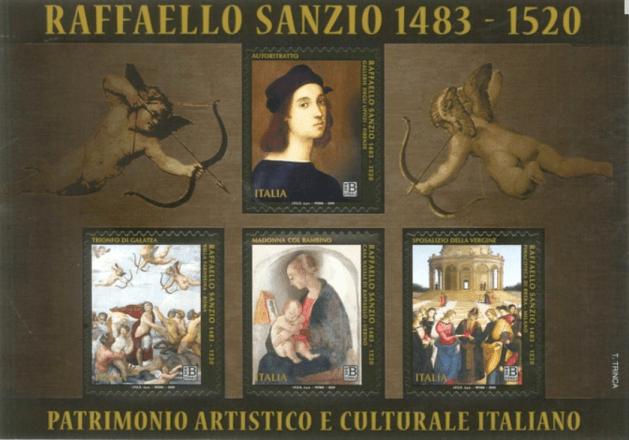 i francobolli di raffaello sanzio