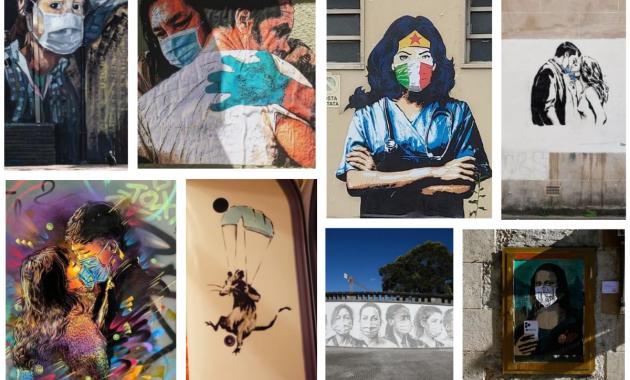 Alessio B a Codogno, Harry Greb a Roma, Banksy a Londra, Alexandre Farto a Porto, C215 a Parigi. E ancora Tvboy, Rebel Bear e un murale a Bogotà: l'arte di strada tra baci, abbracci e mascherine…