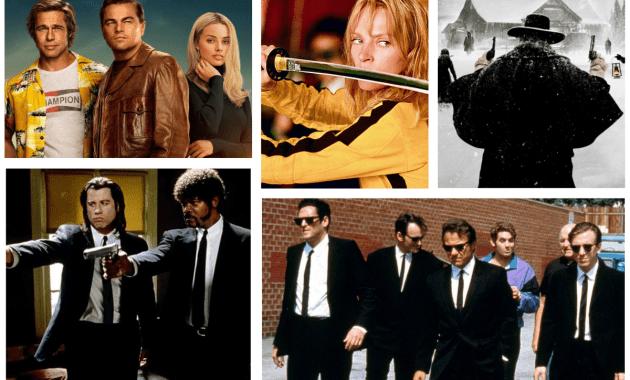 Le iene, Pulp Fiction, Kill Bill, The hateful eight e C'era una volta a... Hollywood di Quentin Tarantino