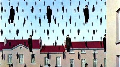 Golconda è uno dei capolavori di René Magritte, eseguito nel 1953 e oggi conservato nella Menil Collection di Houston