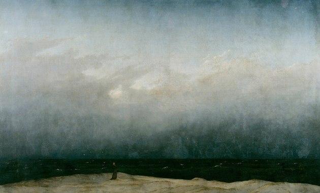 Il monaco in riva al mare di Caspar David Friedrich