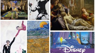 """""""Van Gogh, i colori della vita"""" a Padova, """"Van Gogh e i Maledetti"""" a Firenze, """"Marc Chagall - Anche la mia Russia mi amerà"""" a Rovigo, """"L'Ottocento e il mito del Correggio"""" a Parma, la doppia mostra su Banksy a Teatro Arcimboldi, Milano, e Chiostro del Bramante, Roma, """"C'era una volta Walt Disney"""" a Milano"""