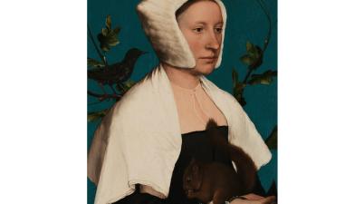 Holbein, dama con scoiattolo e storno