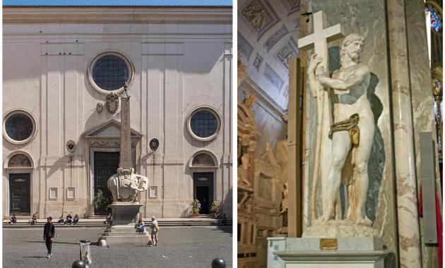 La basilica di Santa Maria sopra Minerva e quel meraviglioso Cristo di Michelangelo