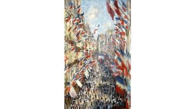 La Rue Montorgueil a Parigi di Claude Monet