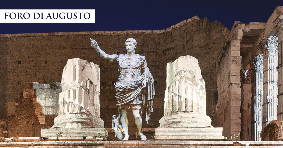 Viaggi nell'antica Roma, al Foro di Augusto ripartono gli spettacoli multimediali