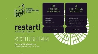 Torna SPAM, il Festival dell'Architettura della Capitale, dal 23 al 29 luglio