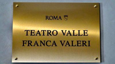 Roma, il Teatro Valle intitolato a Franca Valeri