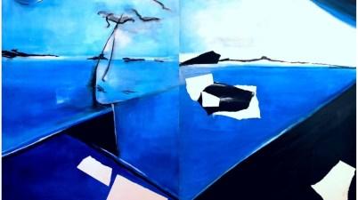 Azzurro, le opere di Adriana Pignataro a Galleria Vittoria