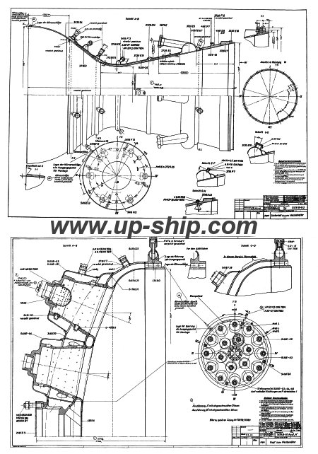 V-2 (A-4) rocket engine diagrams