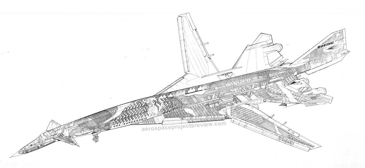 Boeing 2707-200 cutaway