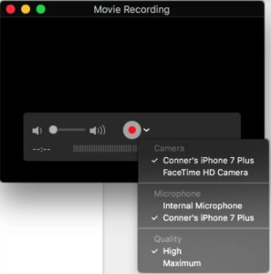 Movie Recording Select Device