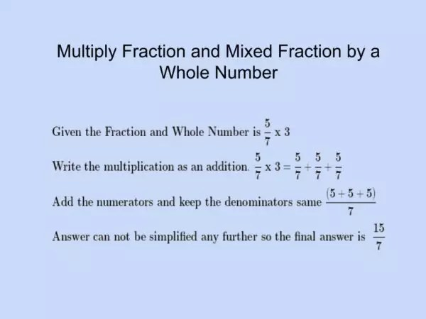 How to Multiply a Fraction and Mixed Fraction by a Whole Number
