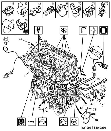 schema moteur citroen xsara