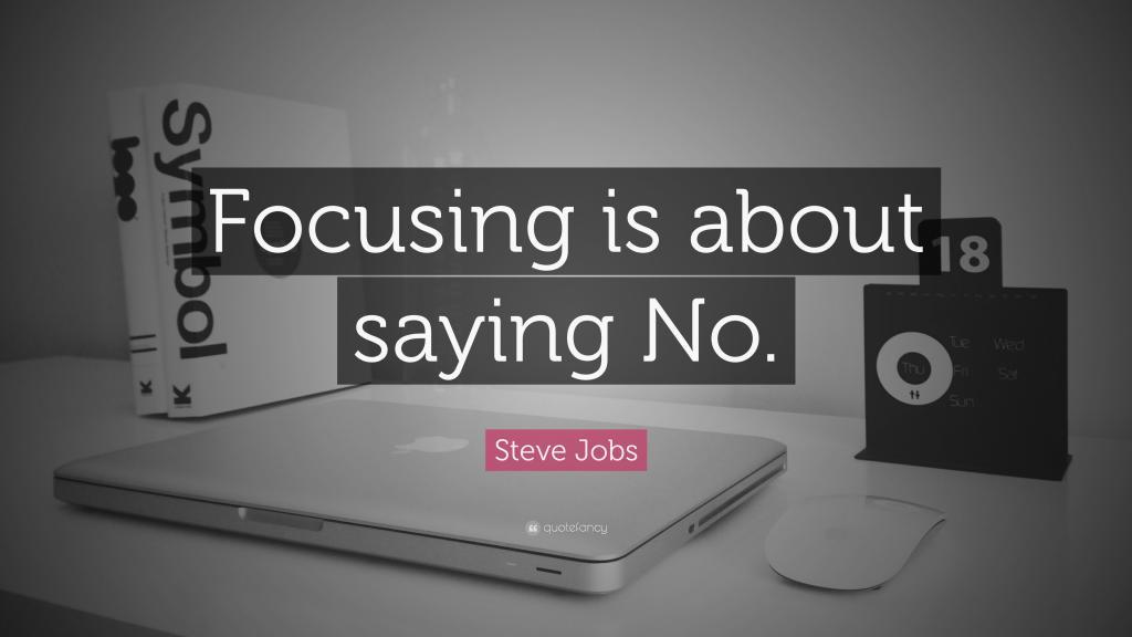 Steve Jobs Wallpaper Quotes 乔布斯名言 专注于说不 高清图片 艺术壁纸 回车桌面
