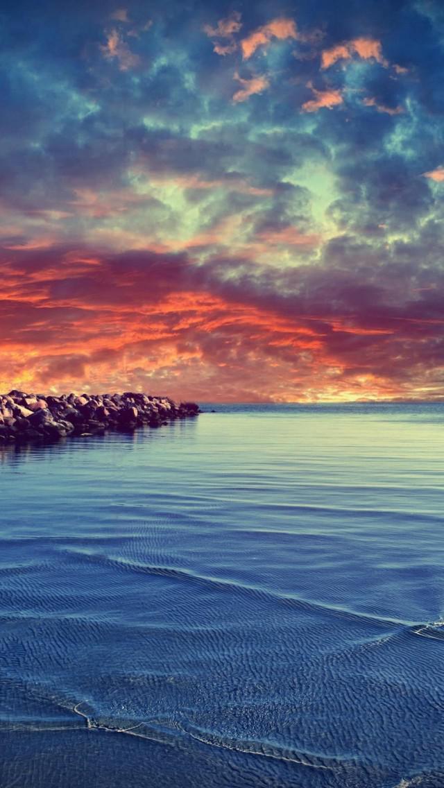 Summer Desktop Wallpaper Hd 平静的海面 锁屏图片 高清手机壁纸 风景 回车桌面