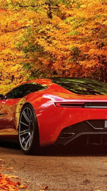 Ferrari Car Wallpaper Images 夜灯下的迈凯轮p1超级跑车 锁屏图片 高清手机壁纸 汽车 回车桌面