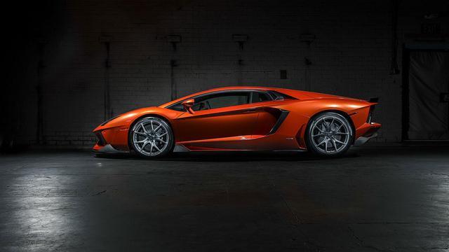 Wallpapers 1024x768 Cars 橙色炫酷兰博基尼跑车 高清图片 汽车壁纸 回车桌面