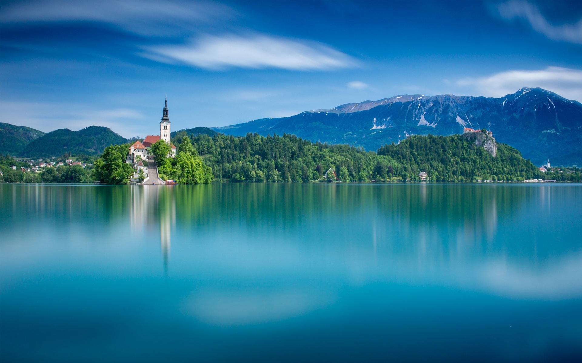 斯洛文尼亞最美的湖泊布萊德湖,風景-回車桌面