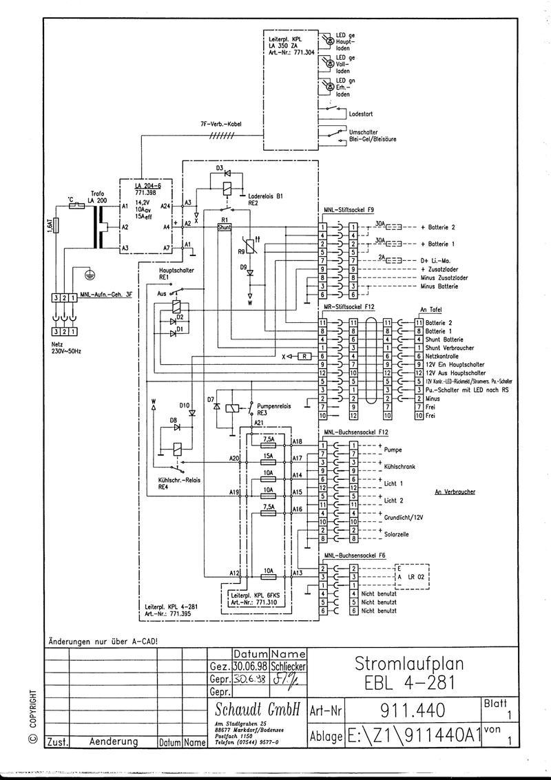 Elektroblock ebl 99 kaputt