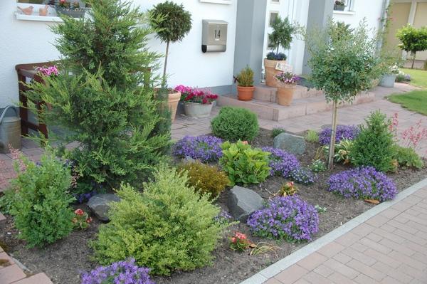 gartengestaltung kleiner vorgarten | moregs, Gartenarbeit ideen