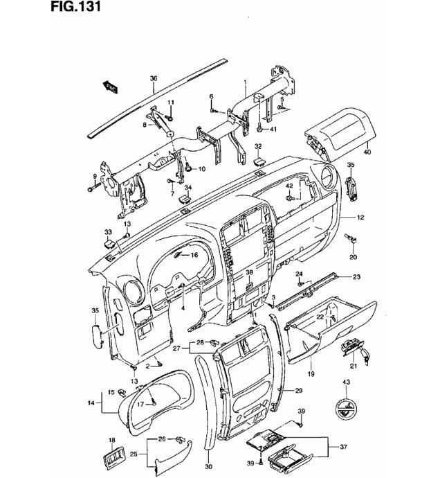 Suzuki Jimny Explosionszeichnung