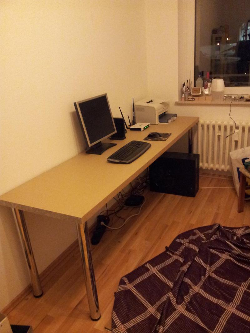Arbeitsplatte Als Schreibtisch (bauen, Handwerk, Selber