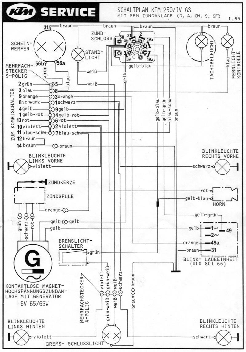 Schaltplan Ktm Lc4 620