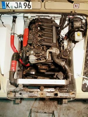 fitting bmw 530d m57 engine into defender 110, ex 200tdi