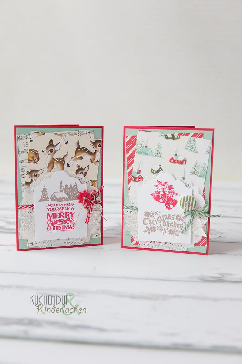 """Anspruchsvoll Edle Weihnachtskarten Basteln Galerie Von Das Stempelset """"magische Weihnachten"""" Habe Ich Diesmal"""