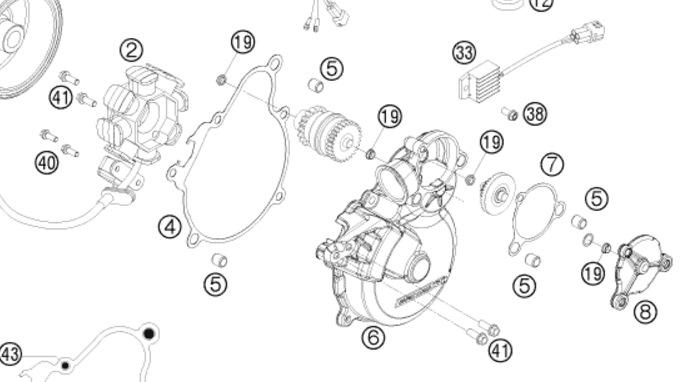 2008 ktm 300 exc starter/bendix/crown wheel bushes