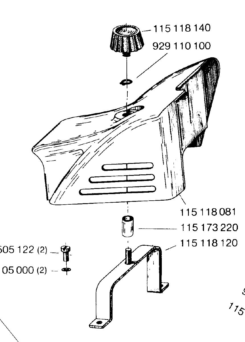 Suche Befestigungsbügel für Vergaserdeckel Dolmar CT