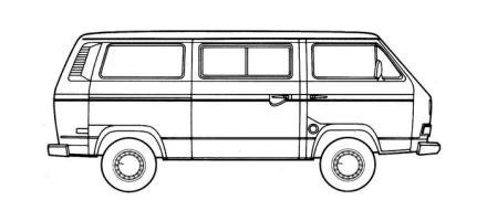 Ausmalbilder Vw Bus T6   Kinder Ausmalbilder