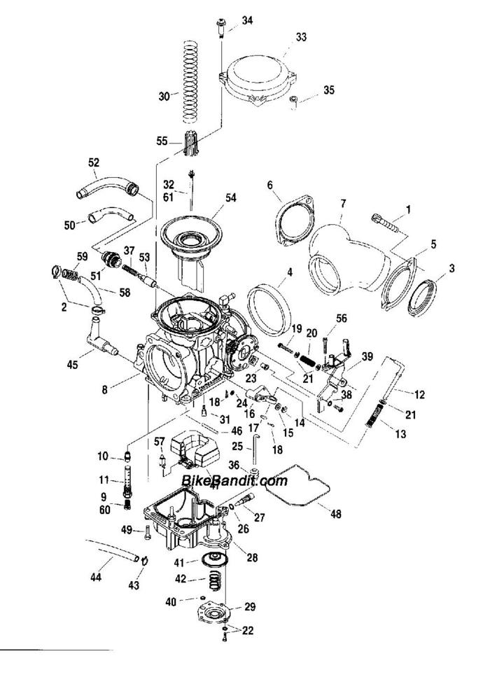 Harley Evolution Engine Exploded View. Diagram. Auto