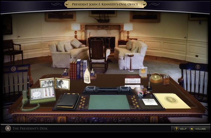John F Kennedy Presidential Library The President S Desk Interactive Exhibit Daniel Loewus Deitch