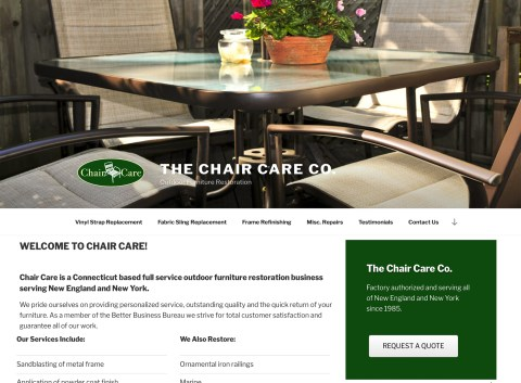 The Chair Care Company Website - Homepage