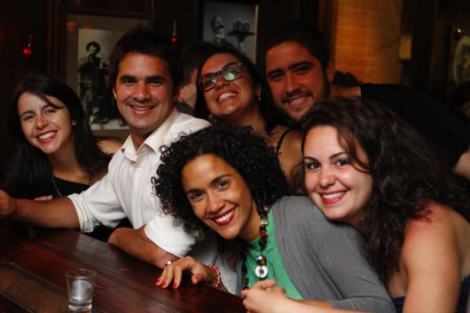 Ô turma boa que só: Lily, Thiago, Luana, Pedro e Marina!