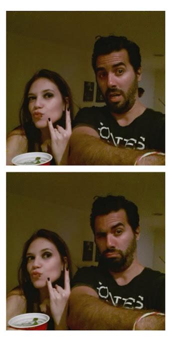 Manu e Diego na festa de aniversário dela. Tema rock and roll!!