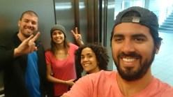 Os cliques já começaram no elevador do aeroporto. Felicidade demais!