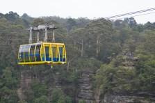 O passeio de bondinho é uma das atrações do parque Scenic World nas Blue Mountains.