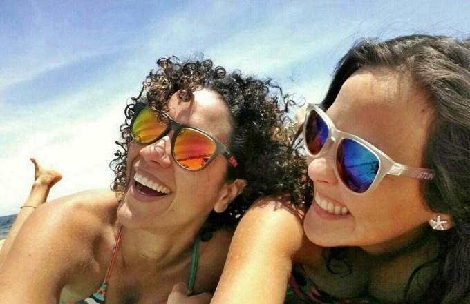 Com a Aline na Brighton beach. We looooove Summer in Melbourne!