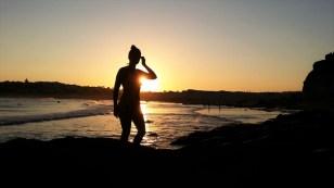 """""""Pôr-do-sol ainda é minha cor predileta, a segunda é arco-íris."""" ~Mattie Stepanek; em North Curl Curl"""