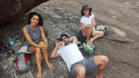 Com os queridos Alyne e Thiago no Girraween National Park em Queensland. Alyne grávida da Anita, Diego fotografando e Lucas ali perto, desbravando o novo território ;)