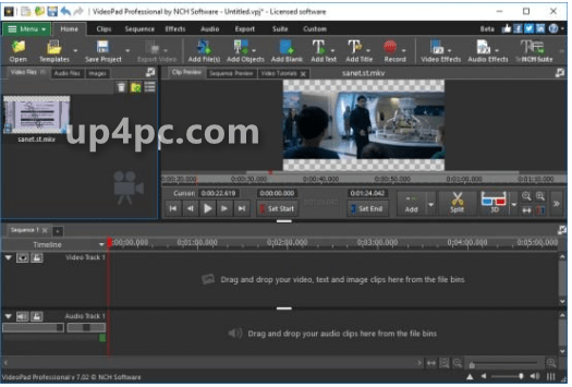 NCH VideoPad Video Editor Professional 7.34 Beta
