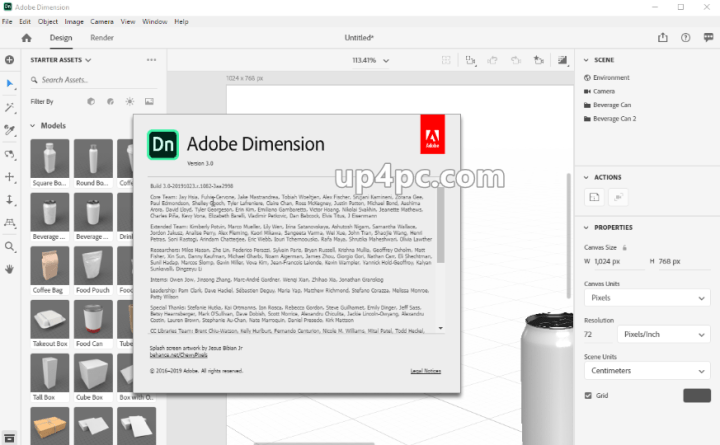 Adobe Dimension CC 2020 v3.0.0.1082 With Crack [Latest]