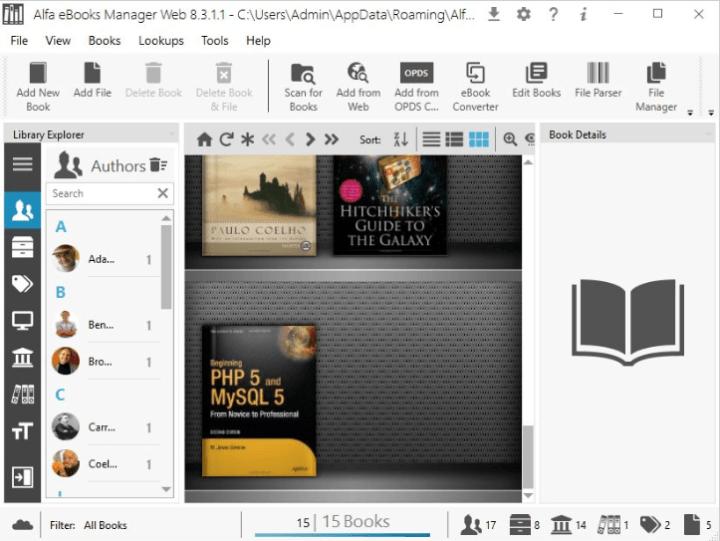 Alfa Ebooks Manager Pro Web 8.3.1.1