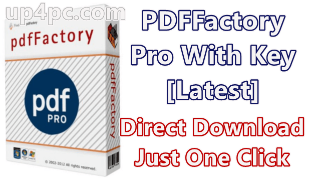 PDFFactory Pro 7.07 With Key [Latest]
